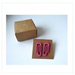 Pendientes - Clip rosa