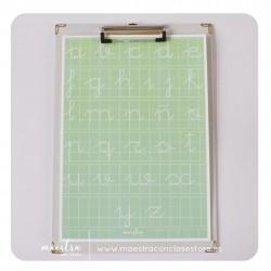 Lámina - Caligrafía verde