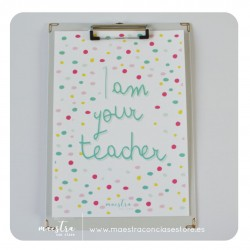 Lámina - I am your teacher...